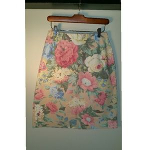Retro Floral Skirt